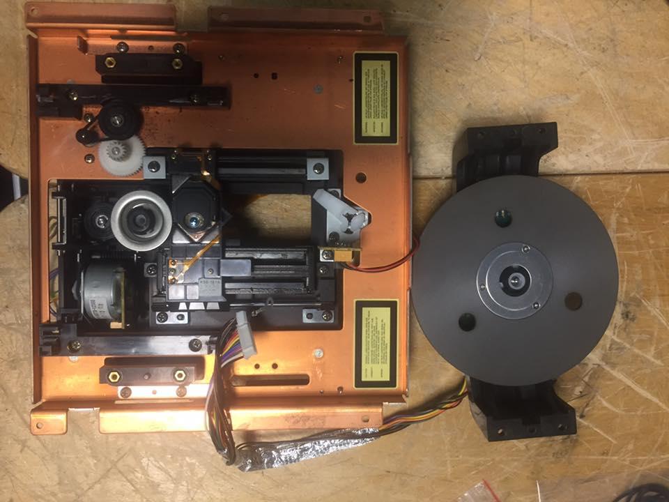 TEAC VDRS-25X Reparatur schublade 2