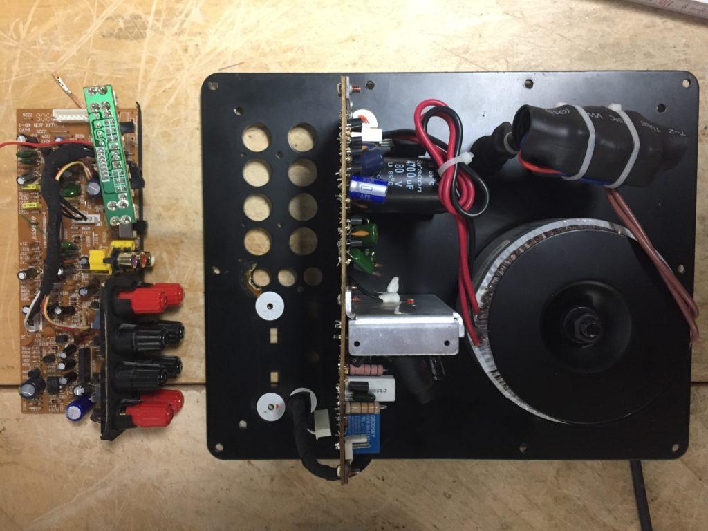 Harman Kardon SUB TS-11 Geräusche Noise schlatet nicht ein reparatur